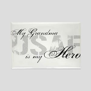 Grandma is my Hero USAF Rectangle Magnet