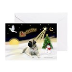 Night Flight-Bull Mastiff (ld) Greeting Card