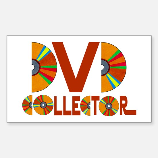 DVD Collector Rectangle Decal