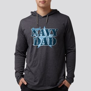 Proud Navy Dad Mens Hooded Shirt
