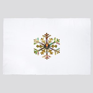 Sparkly Art Snowflake 4' x 6' Rug