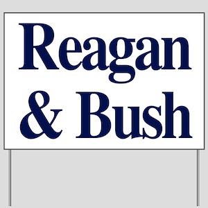 Reagan Bush 1980 Yard Sign