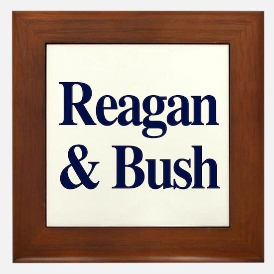 Reagan Bush 1980 Framed Tile