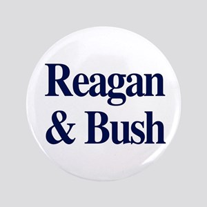 """Reagan Bush 1980 3.5"""" Button"""