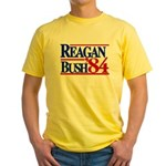 Reagan Bush 1984 Yellow T-Shirt