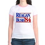 Reagan Bush 1984 Jr. Ringer T-Shirt
