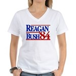 Reagan Bush 1984 Women's V-Neck T-Shirt