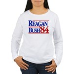 Reagan Bush 1984 Women's Long Sleeve T-Shirt