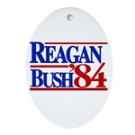 Reagan Bush 1984 Oval Ornament