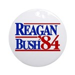 Reagan Bush 1984 Ornament (Round)
