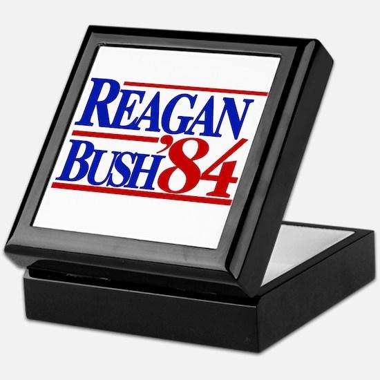 Reagan Bush 1984 Keepsake Box