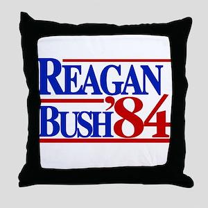 Reagan Bush 1984 Throw Pillow
