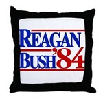 Reagan Bush 1984 Throw Pillow
