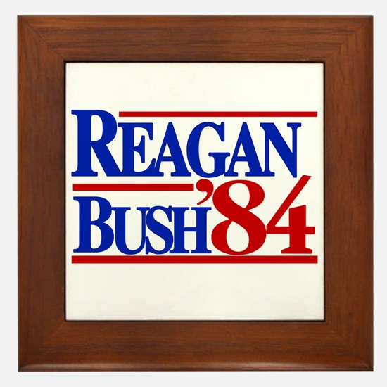 Reagan Bush 1984 Framed Tile
