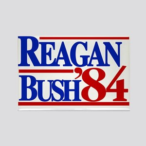 Reagan Bush 1984 Rectangle Magnet