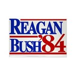 Reagan Bush 1984 Rectangle Magnet (100 pack)