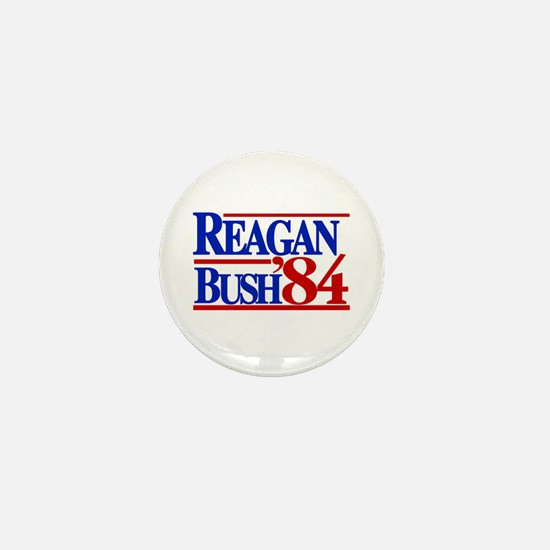 Reagan Bush 1984 Mini Button