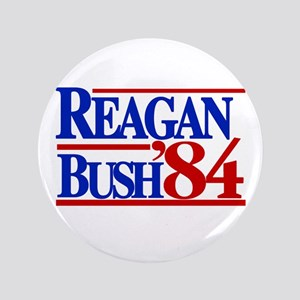 "Reagan Bush 1984 3.5"" Button"