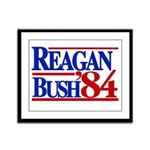 Reagan Bush 1984 Framed Panel Print