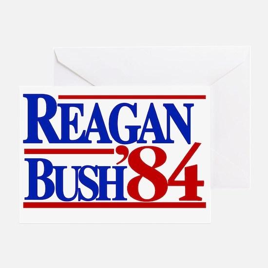 Reagan Bush 1984 Greeting Card