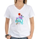 Sabra Dog Inspiration(classic)womens V T-Shirt