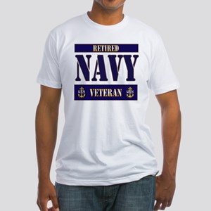Retired Navy Veteran Fitted T-Shirt