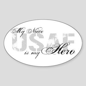 Niece is my Hero USAF Oval Sticker