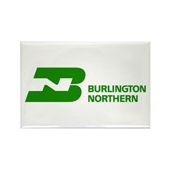 Burlington Northern Rectangle Magnet