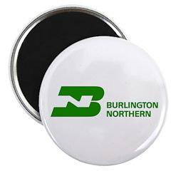 Burlington Northern Round Magnet