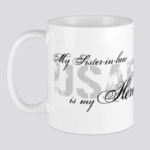 Sister-in-law is my Hero USAF Mug