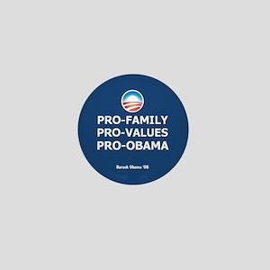 Obama Family Values Mini Button
