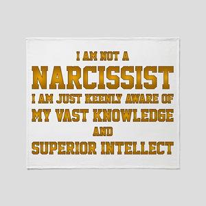 narcissist Throw Blanket
