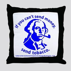 Washington's Pipe Throw Pillow