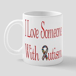 Love Someone with Autism Puzzle Ribbon Mug