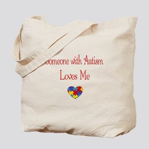 Autism Love Awareness Puzzle Heart Tote Bag