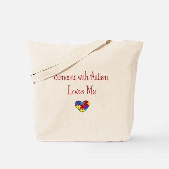 Autism Love Awareness Puzzle Heart Tote Bag
