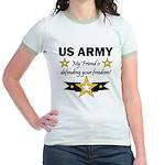 US Army Friend Patriotic Jr. Ringer T-Shirt