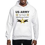 US Army Friend Patriotic Hooded Sweatshirt