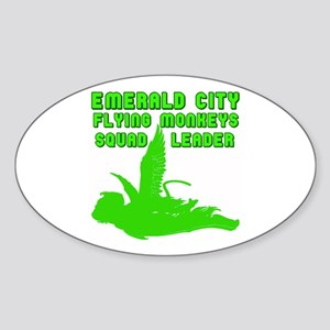 emerald city monkeys Oval Sticker