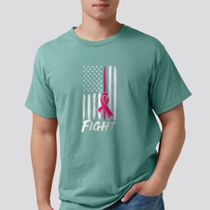 American Flag Breast Cancer Awareness Figh T-Shirt