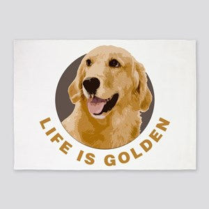 Life Is Golden, Retriever That Is 5'x7'Area Rug