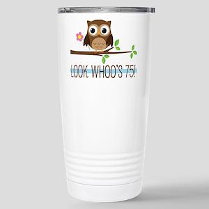 75th Birthday Owl Mugs
