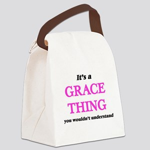 It's a Grace thing, you would Canvas Lunch Bag