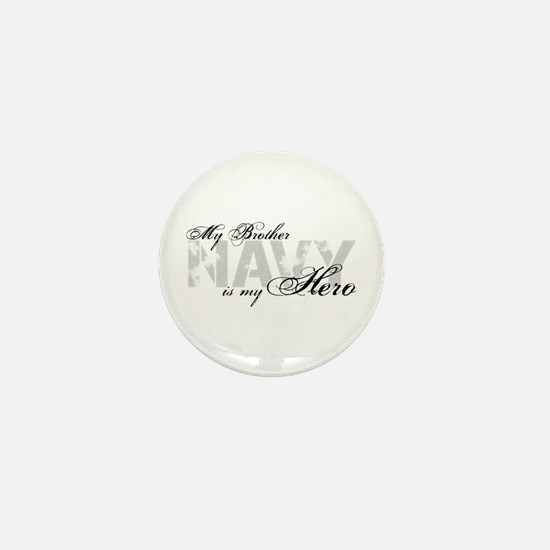 Brother is my Hero NAVY Mini Button