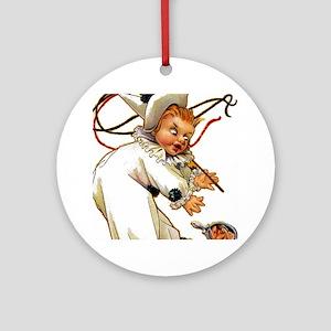 Halloween Clown Tile Ornament / Necklace Pendant