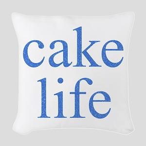 Cake Life Woven Throw Pillow
