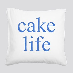 Cake Life Square Canvas Pillow