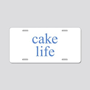Cake Life Aluminum License Plate