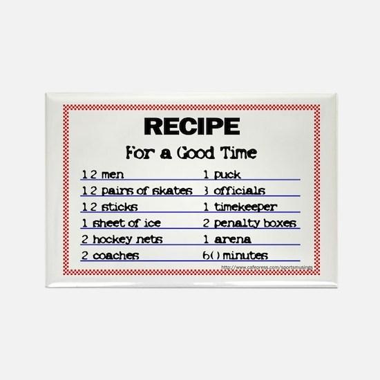 Hockey recipe. Rectangle Magnet