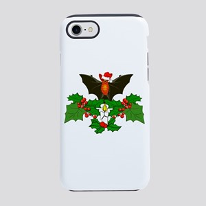 Christmas Holly With Bat iPhone 8/7 Tough Case